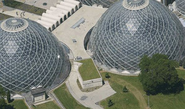 Aerial view of the Domes